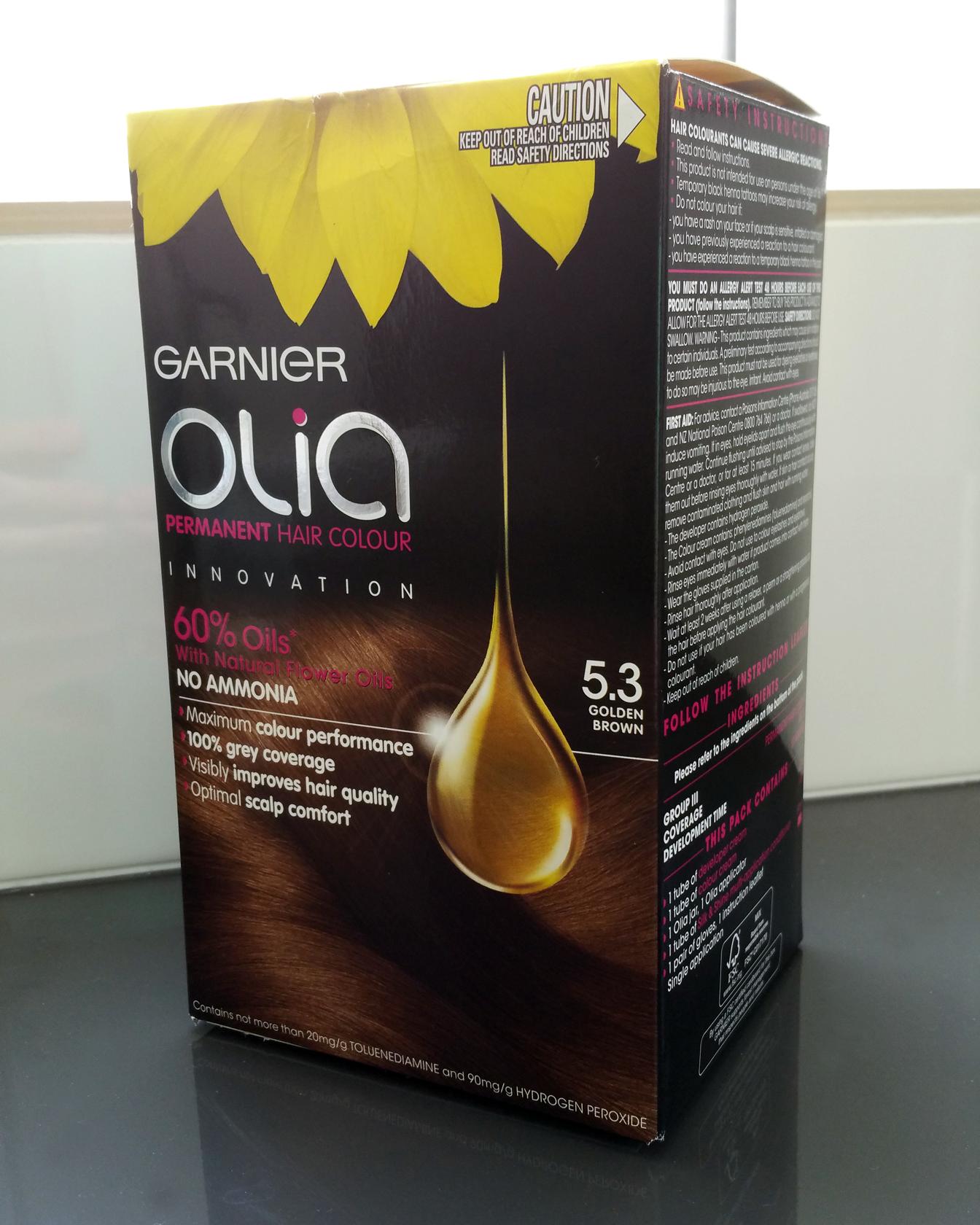 Garnier olia permanent hair colour golden brown 5 3 - Garnier Olia Permanent Hair Colour